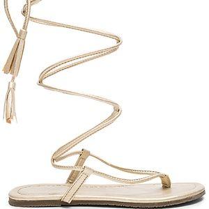 Pilyq Gold Boho Gladiator Sandal - NEW *w/Defect*